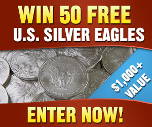 Win 50 U.S. Silver Eagles