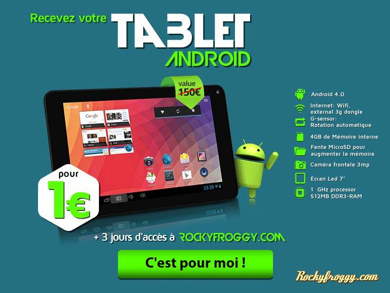 Android tablet only for one €