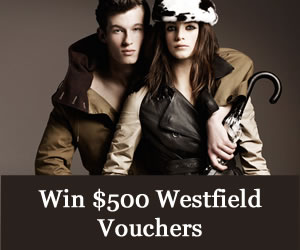 Win $500 of Westfield Vouchers – AUS